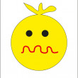 Round yellow smiley. vector — Stock Vector