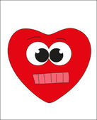 Valentine's Day. Smiley - red heart. Vector. — Vettoriale Stock