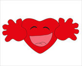 Valentine's Day. Smiley - red heart. Vector. — Stock Vector