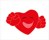 Valentine's Day. Smiley - red heart. Vector. — Stockvector