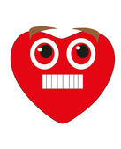 Valentine's Day. Smiley - red heart. Vector. — Wektor stockowy