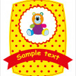 Card - bear. Vector illustration. - Stock Vector