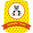 Card - panda. Vector illustration. - Stock Vector