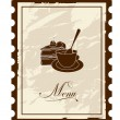 Old mark - menu. Vector illustration. - Stock Vector