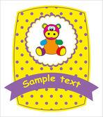 Postcard - hippopotamus. Vector illustration. — Stock Vector
