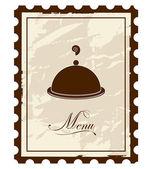 Old mark - menu. Vector illustration. — Stock Vector