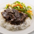 Teriyaki beef meal — Stock Photo