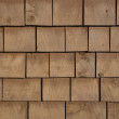 Brown stained cedar shingle background - Stock Photo
