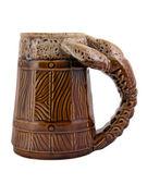 Ceramic beer mug — Stock Photo