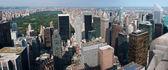 Central park e do rockefeller center arranha-céus — Fotografia Stock