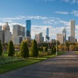Chicago skyscrapers from Millennium Park — Stock Photo