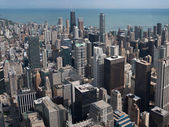 Chicago skyscrapers from Willis Tower — Stock Photo