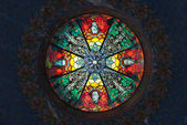 Stained glass skylight — Stock Photo