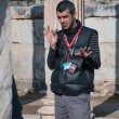 EPHESUS, TURKEY, December 25. Guide tells tourists about Ephe — Stock Photo #27188413