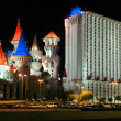 Panoramic view at Excalibur Hotel at night in Las Vegas — Stock Photo #29432565