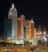 New York-New York Hotel & Casino in Las Vegas at night — Stock Photo