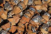 Pottery kebab used pots — Stock Photo