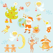 Love Christmas set — Stock Vector
