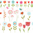 Royalty-Free Stock Vector Image: Floral hearts