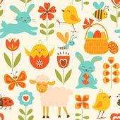Cute Easter pattern — Vector de stock