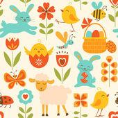 Cute Easter pattern — Διανυσματικό Αρχείο