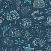 Underwater life pattern — Stock Vector
