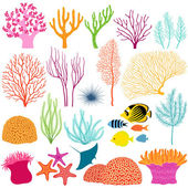 Underwater design elements — Stock Vector