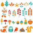 Сute autumn design elements — Stock Vector #30011185