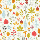 Autumn floral pattern — Stock Vector
