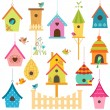 Bird houses — Stock Vector #45006301