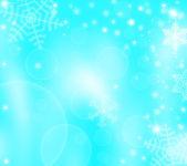 Новогодний Зимний фон со снежинками — Стоковое фото