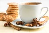 Cup of coffee and cookie — Stock Photo