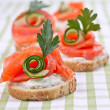 Sandwiches with salmon - Foto Stock