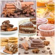 Collage of dessert. — Foto de Stock