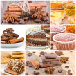 Collage of dessert. — Stockfoto