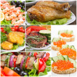 Stock Photo: Collage of food