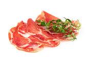 Thinly sliced ham — Stock Photo