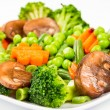 Steamed vegetables — 图库照片