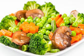 Steamed vegetables — Stockfoto