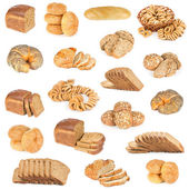 Set of bread and buns — Stock Photo