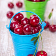 Two buckets with a cherry — Stock Photo #27311921