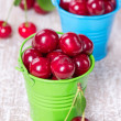 Stock Photo: Two buckets with cherry