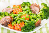 ångade grönsaker. — Stockfoto