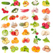 Set of fresh vegetables and fruits — Stock Photo