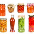 Set of canned vegetables — Stock Photo