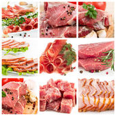 Set of different raw meat — Stock Photo