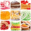 Collage of dessert — Stock Photo