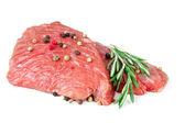 Two pieces of raw beef — Stock Photo