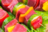 Pieces of meat with vegetables — Stock Photo