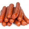 Bavarian sausages isolated on white — Stock Photo